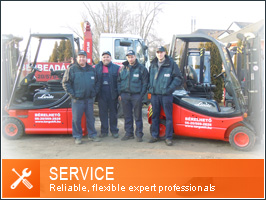 Service - reparing of fork-lifts and heavy machinery